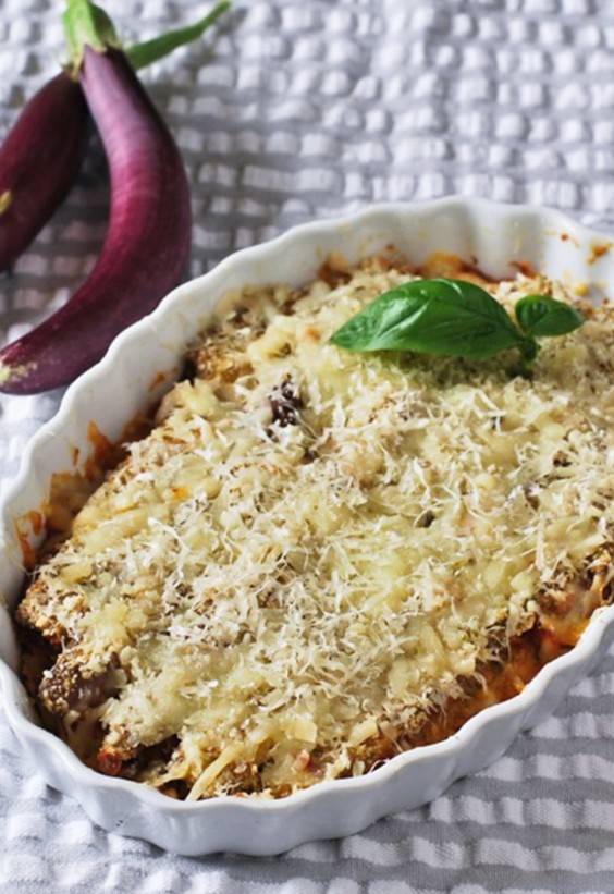 Pasta Sauce Recipes: Eggplant Parmesan For One