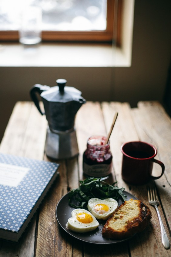 Valentine breakfast: Eggs