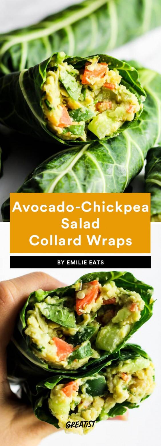 fifteen min veg dinner: Collard Wraps