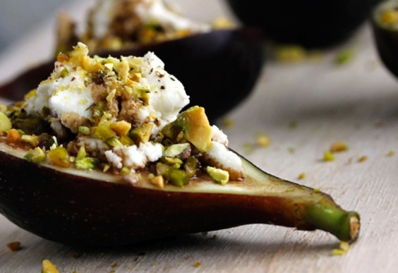 2. Stuffed Goat Cheese and Pistachio Figs
