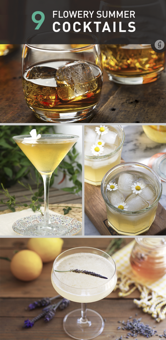 9 Flowery Summer Cocktails