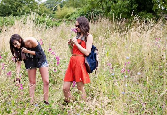 Friends in a Field