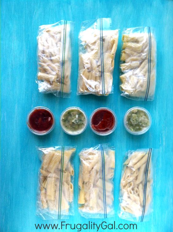 Freezer Meals: Pasta Pakcs