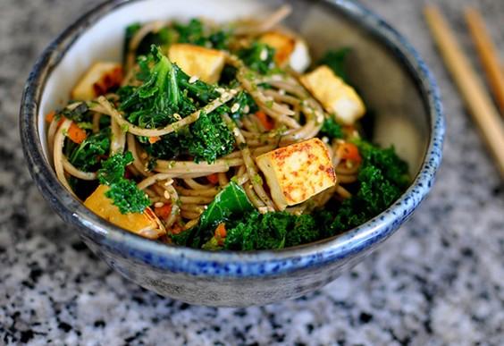 29. Soba Noodles With Kale, Tofu, and Furikake