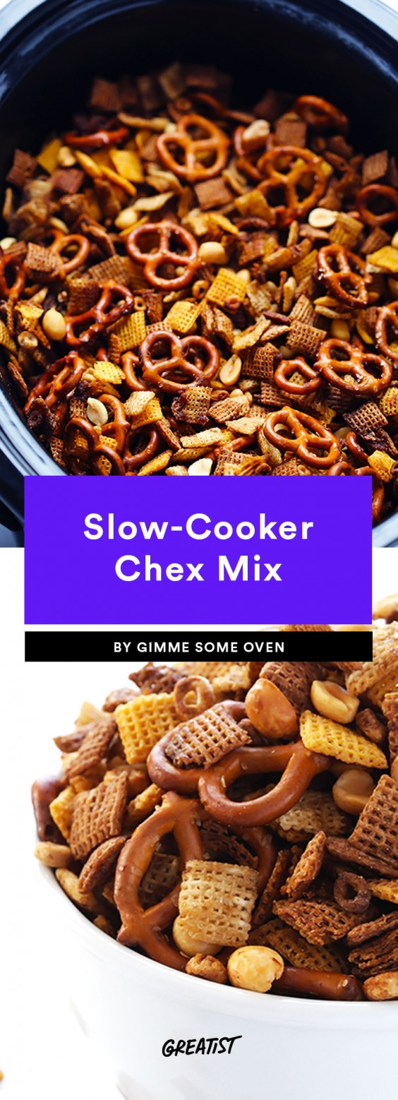 snack prep: Slow-Cooker Chex Mix