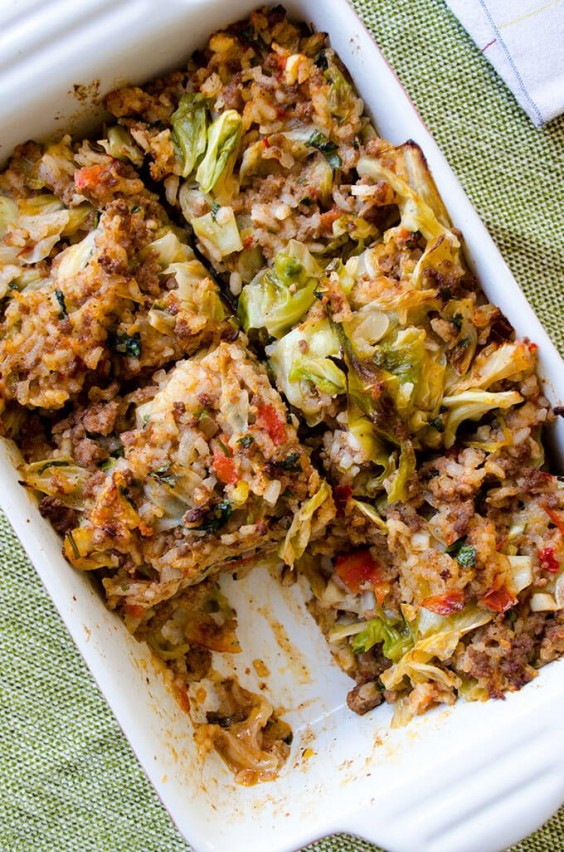Healthy Casseroles: Unstuffed Cabbage