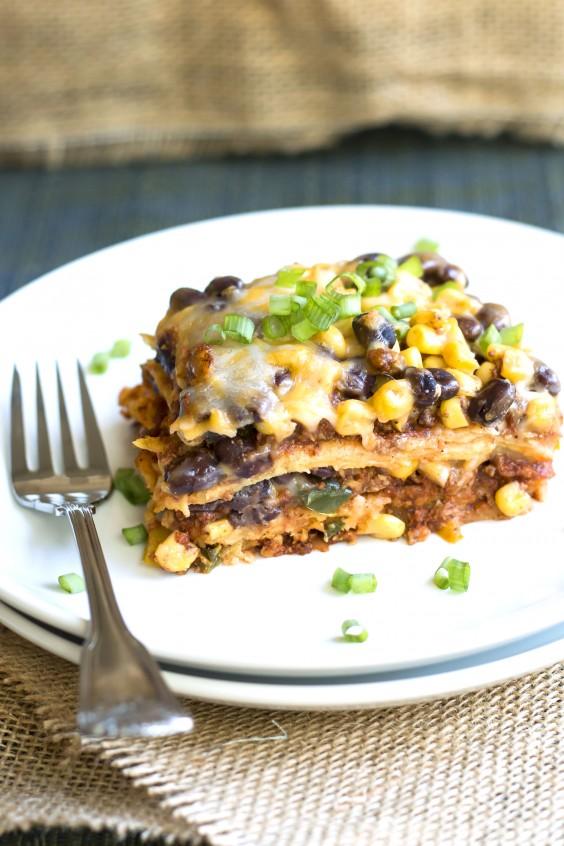 Healthy Casseroles: Turkey Taco Lasagna