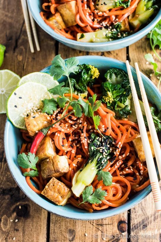 veg as carbs: Carrot Noodle Stir Fry