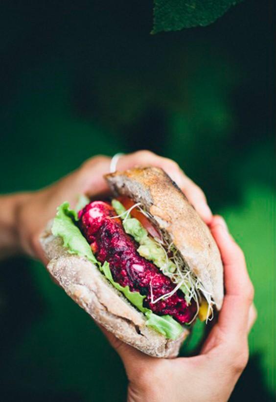 Veggie Burgers: Beet and Feta