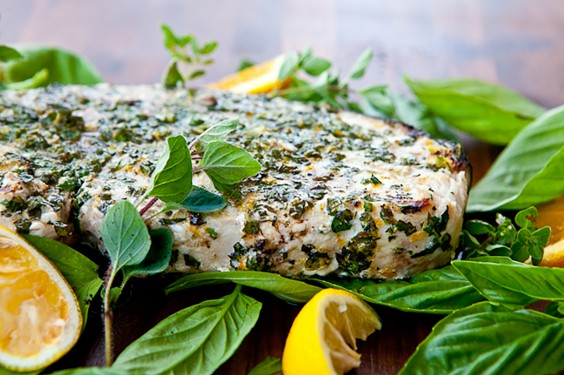 Grilled Fish with Citrus Herbed Crust
