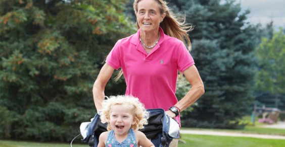 Wait, HOW fast was her half marathon—while pushing a stroller?!