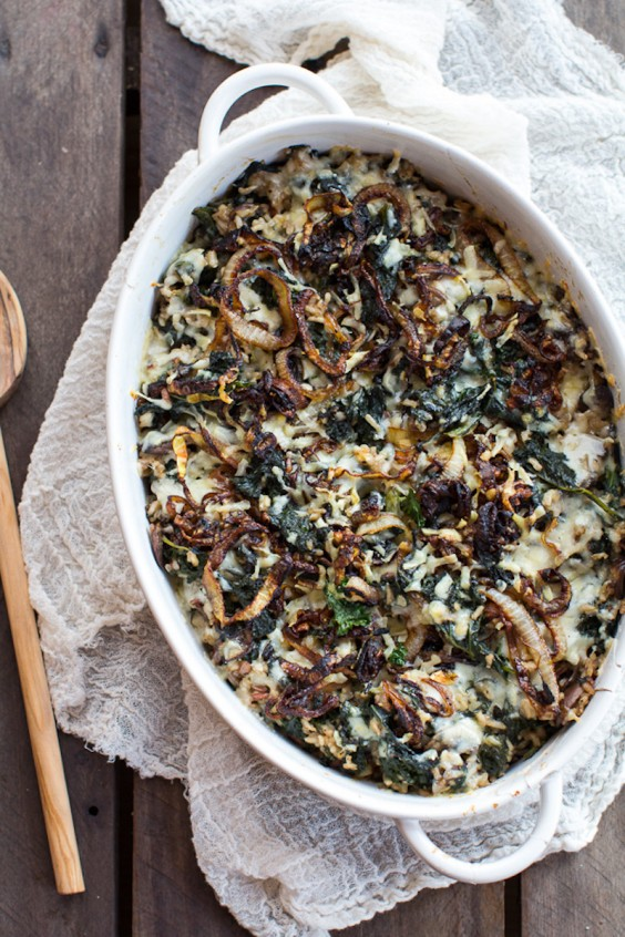 Chicken And Chanterelles On Spinach And Wild Rice Recipe — Dishmaps