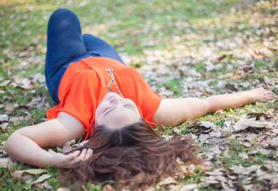 Body Image: Happy Woman In a Park