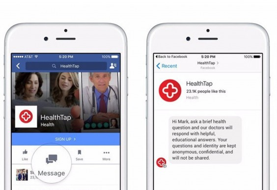 HealthTap on Facebook Messenger