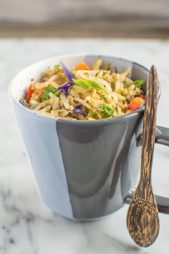 Mug Meals: Egg Fried Rice