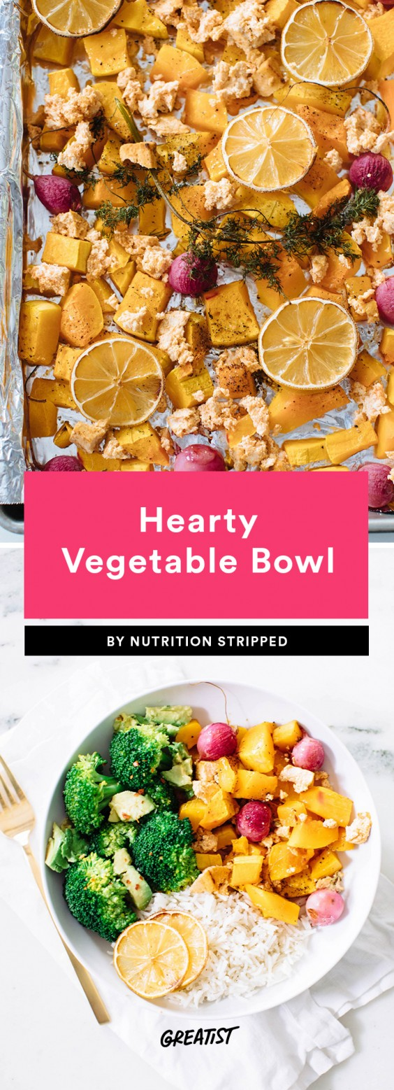 hearty vegetable bowl