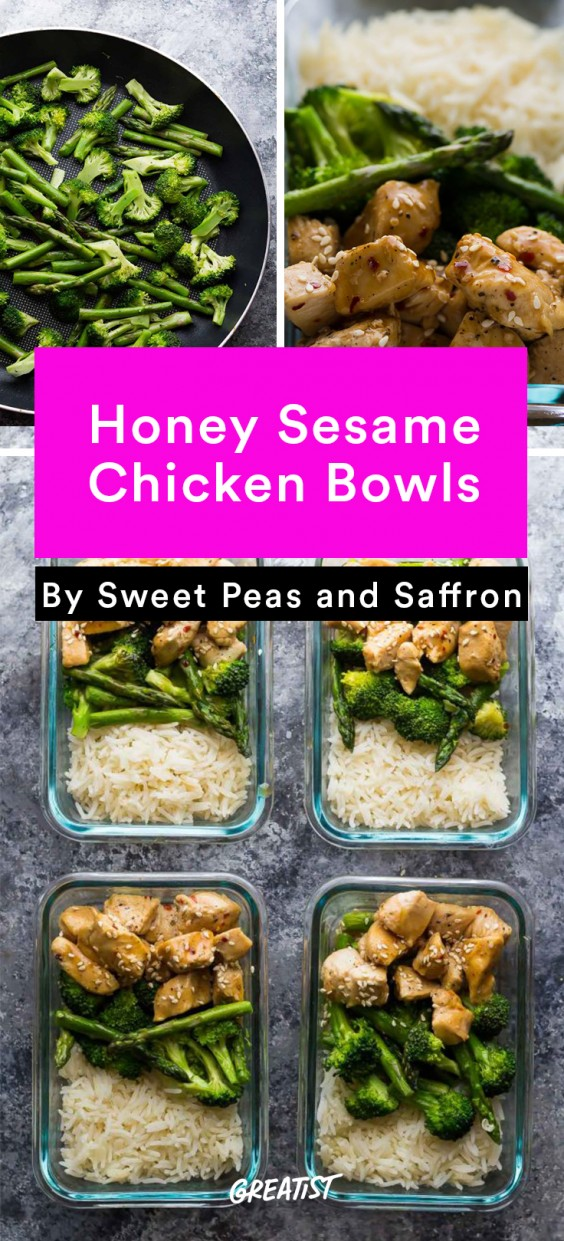 Meal Prep Lunches: Honey Sesame Chicken