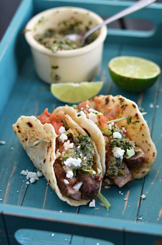 Healthy Tacos: Grilled Steak With Chimichurri Sauce