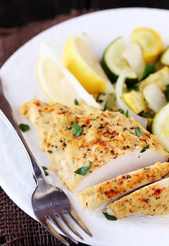leftover hummus: Chicken