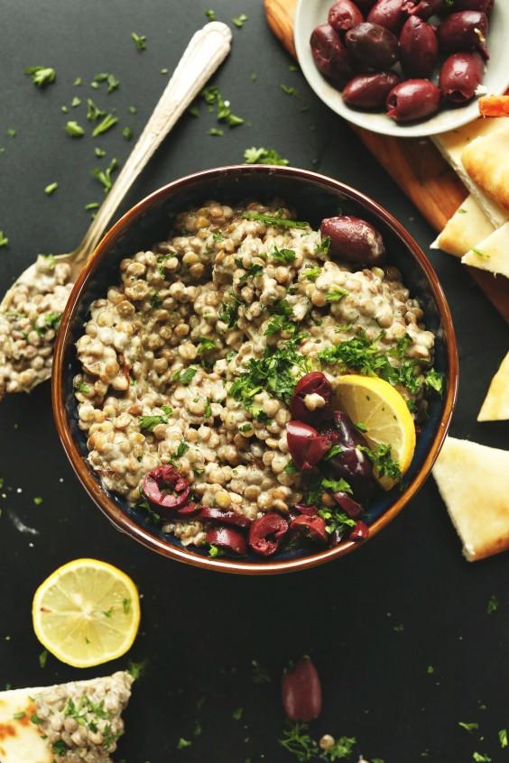 leftover hummus: Lentil Dip