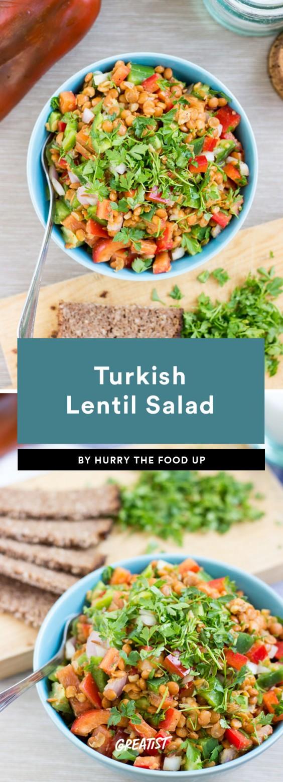 fifteen min veg dinner: Turkish Lentil Salad