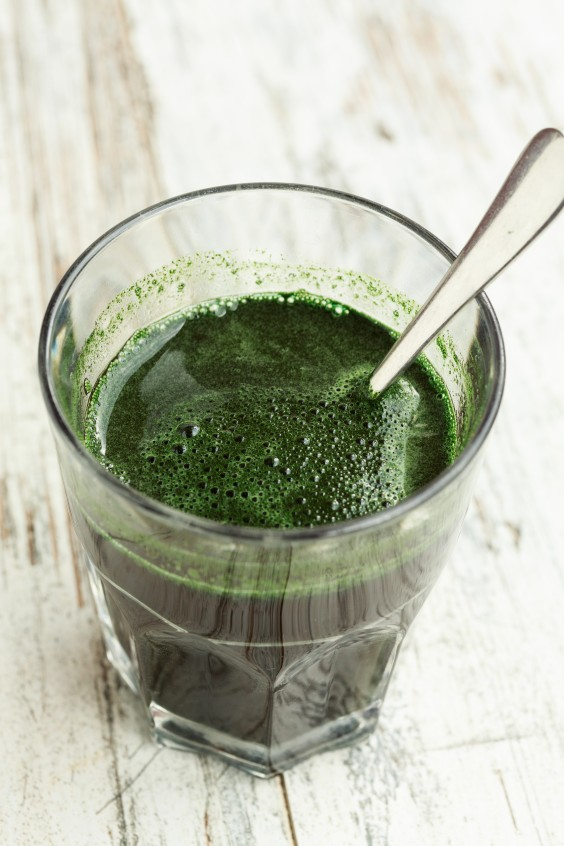 food trends: chlorophyll water
