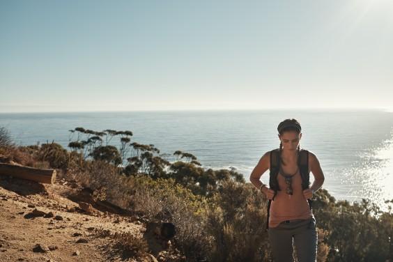 Hiking: girl