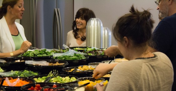 inVentiv Health Public Relations Group Salad Lunch
