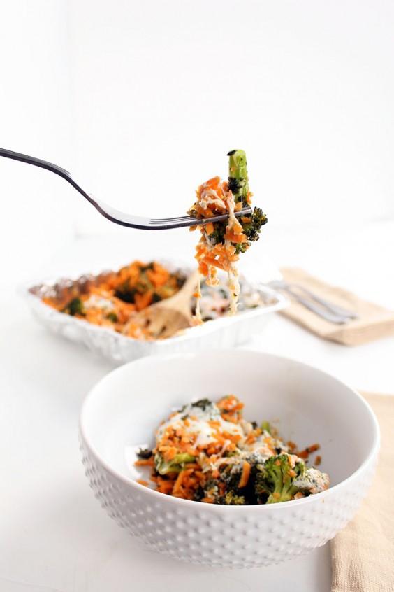 Healthy Casseroles: Pesto Broccoli Sweet Potato