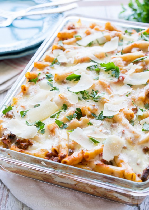 Freezer Meals: Baked Ziti