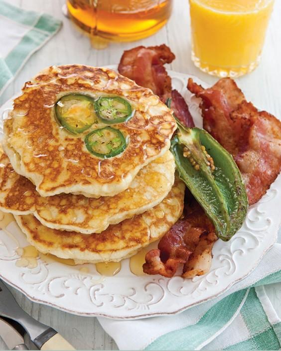 Jalapeño Cornmeal Pancakes