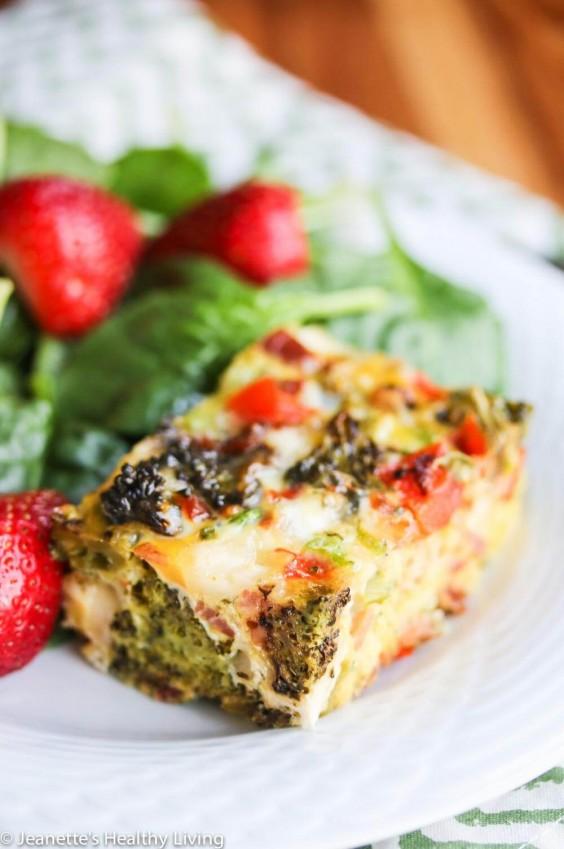 Healthy Casseroles: Roasted Broccoli Pancetta