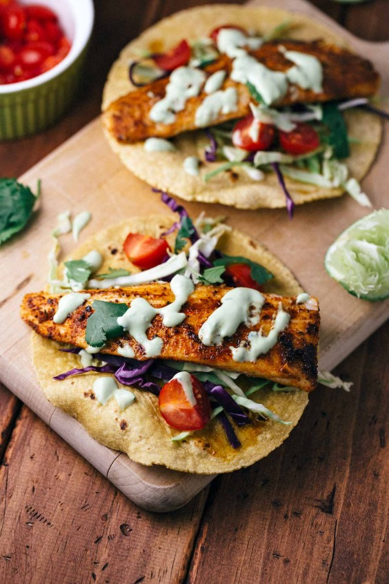 Healthy Tacos: Blackened Mahi Mahi