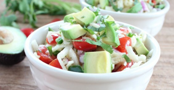 Spiralizing jicama makes a fun, fresh salad