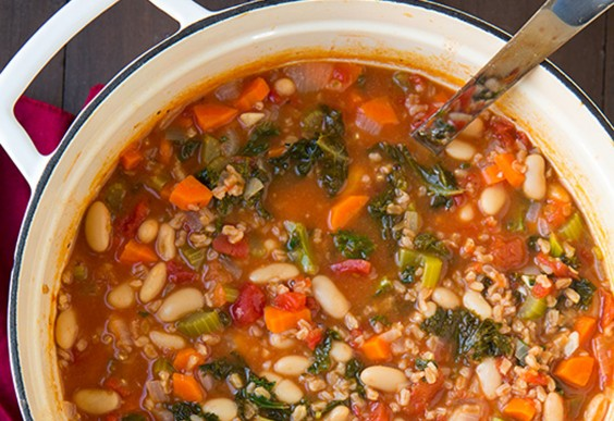 3. Mediterranean Kale, Cannellini, and Farro Stew