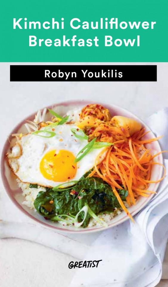 kimchi breakfast bowl