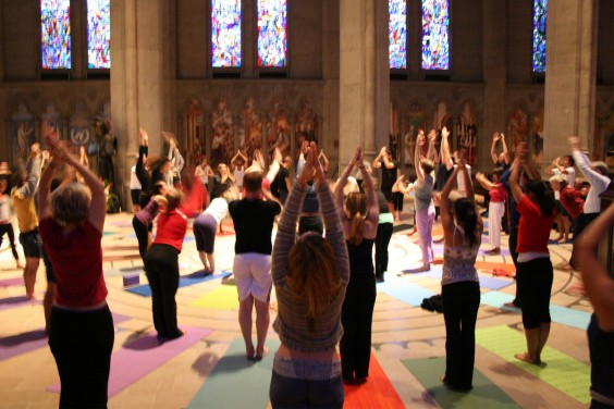 Yoga on the Labryinth
