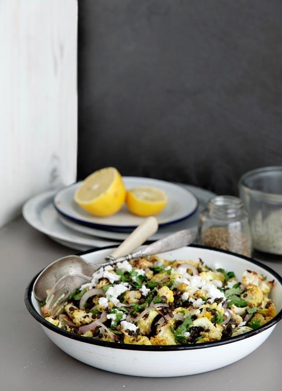 Picnic: Lentil Cauliflower salad