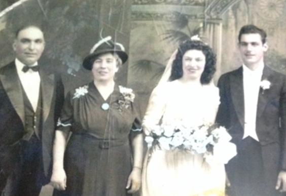 An antique photo of the author's ancestors