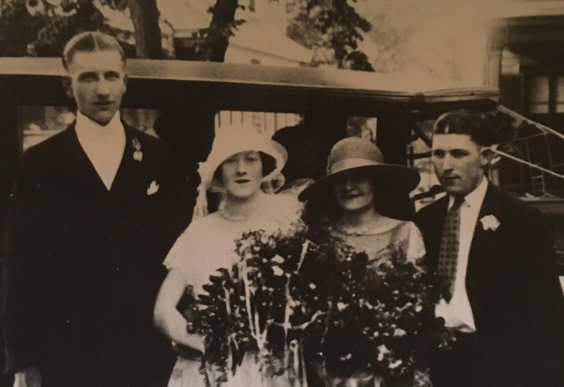 Another antique photo of the author's family, in sepia tone.