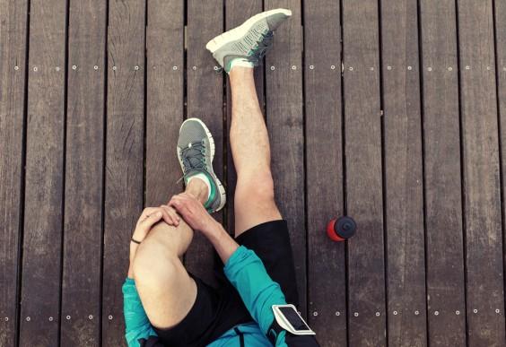 Man Stretching Before Run