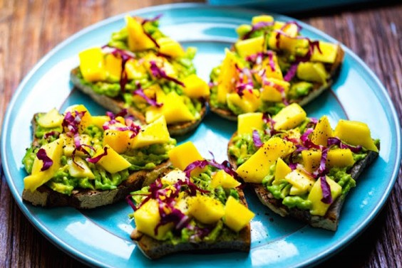 Sweet Mango Avocado Toast