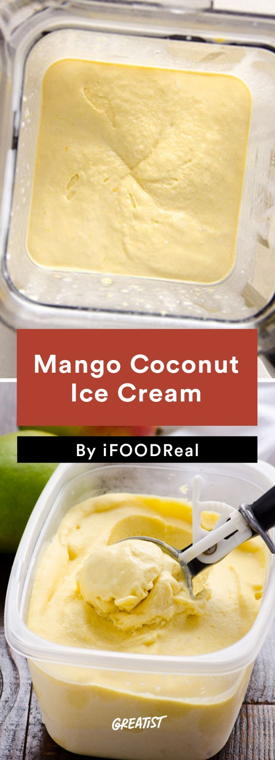 No-Churn Ice Cream: Mango Coconut