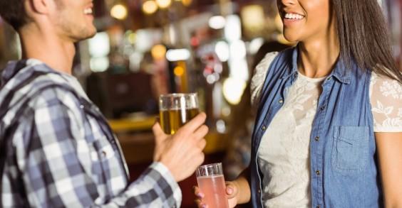 Couple Meeting at a Bar