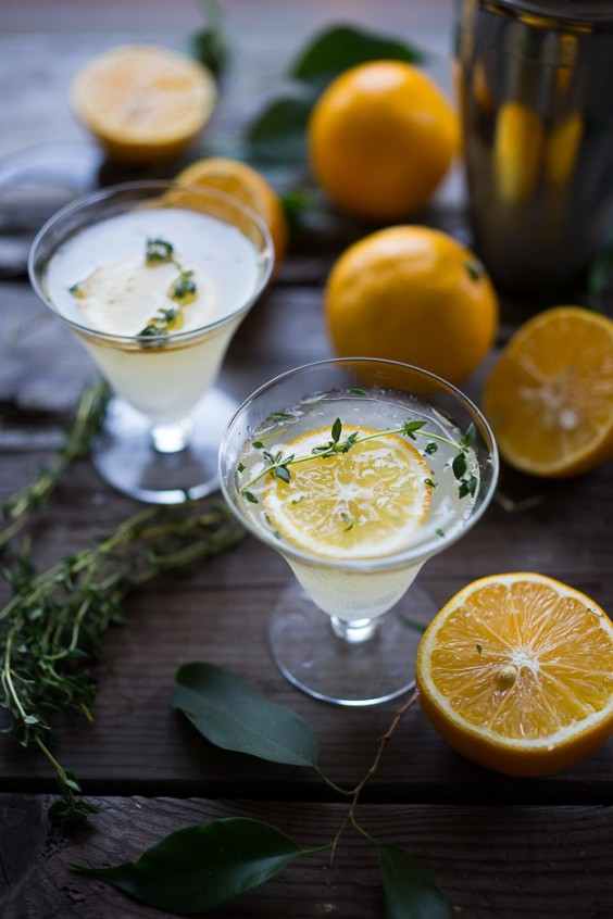 herb cocktails: Meyer Lemon and Thyme Gimlet
