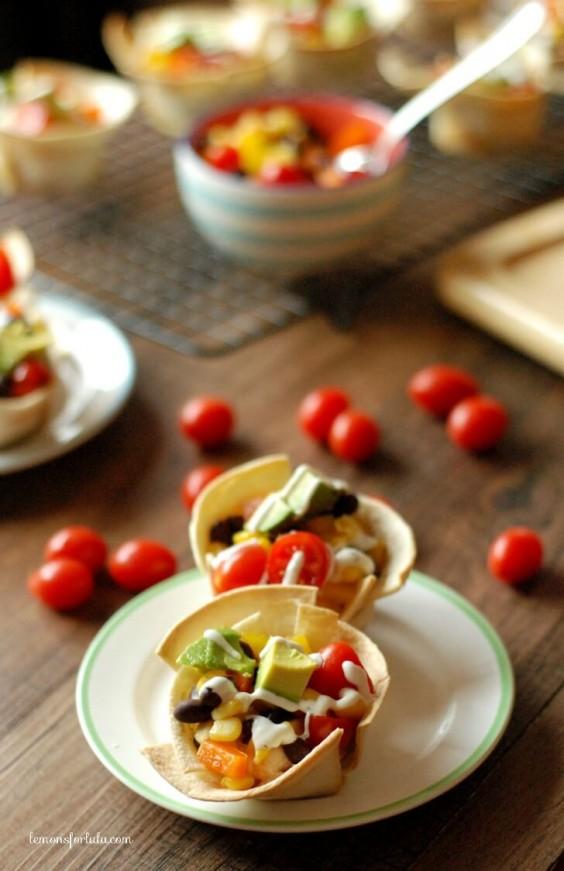 Mini Taco Tortilla Cups