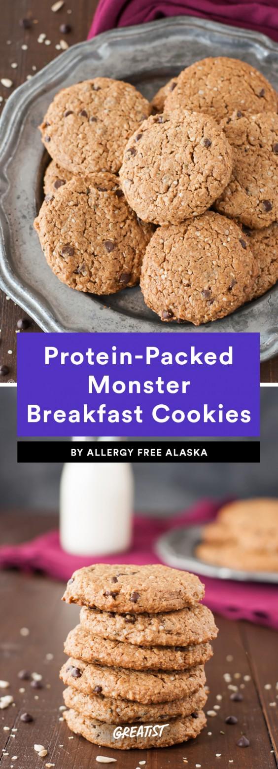 Protein-Packed Monster Breakfast Cookie