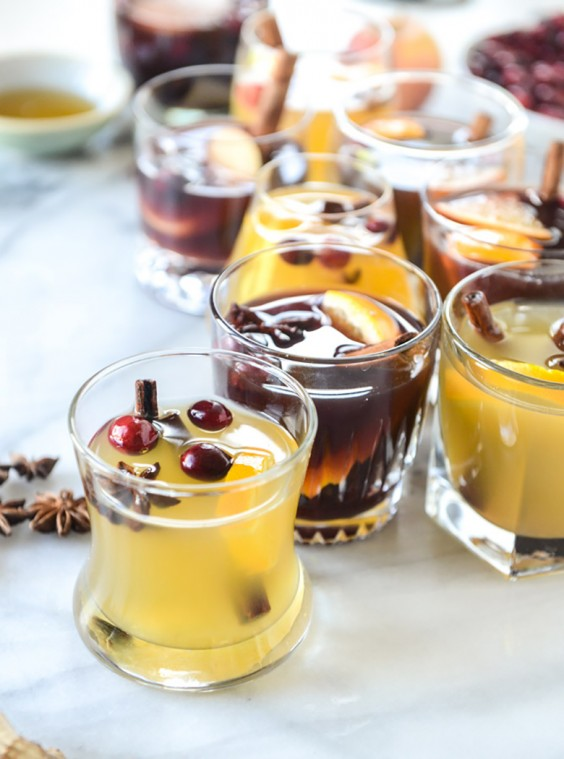Mulled Red and White wine glasses
