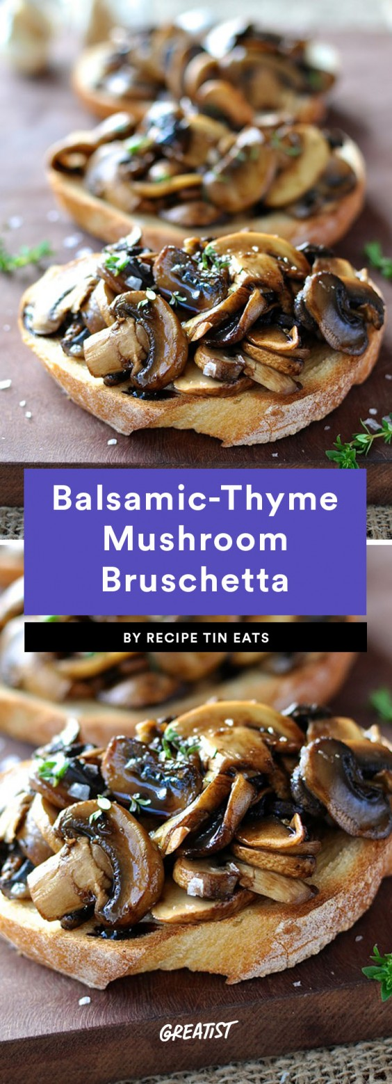 bruschetta: mushroom