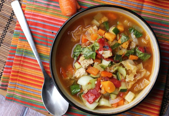 7. Chinese Nine-Vegetable Hot and Sour Soup